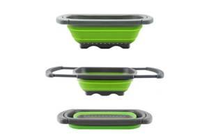 Складной дуршлаг Leach basket (W80) / Корзина в раковину для мытья фруктов и овощей