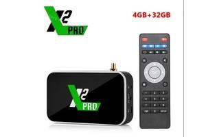 Смарт тв бокс android Smart tv box X2 CUBE pro 4gb/32 гб S905x2 с настройкой