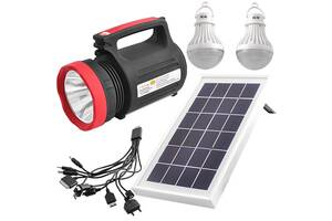 Солнечная система-фонарь YAJIA Luxury YJ-1902T Черный (20053100271)