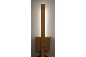 Светильник LED настенный прикроватный деревянный. Бра для спальни