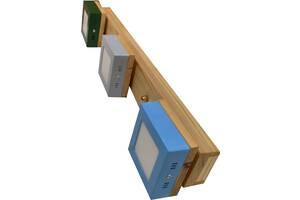Світильник led стельовий дерев'яний  світлодіодний. Ручна робота