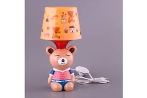 Світильник дитячий з абажуром Fashion Lamp Ведмедик 32 см 39-223