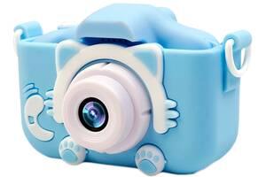 Силиконовый чехол и ремешок XoKo KVR-001 для цифрового детского фотоаппарата Голубой (KVR-001-CS-BL) (9869201149922)