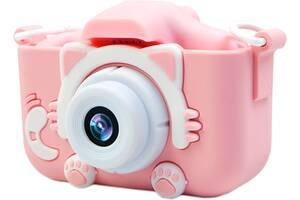 Силиконовый чехол и ремешок XoKo KVR-001 для цифрового детского фотоаппарата Розовый (KVR-001-CS-PN) (9869201149915)