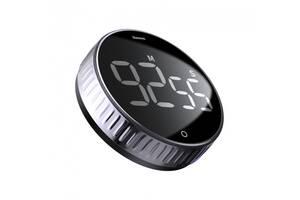 Таймер BASEUS з магнітним кріпленням Heyo Rotation Countdown Timer Black