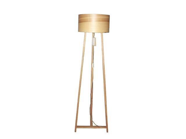 бу Торшер напольный в стиле лофт деревянный Woodidea Floor lamp Eco L 1.5 м Бежевый (wdi_t1l) в Киеве