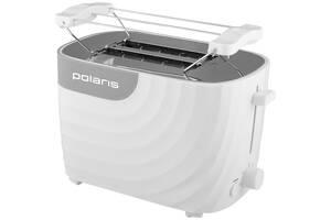Тостер POLARIS PET, 700W, Корпус из термостойкого пищевого пластика, Отсек для наматывания шнура, Кнопка отмены