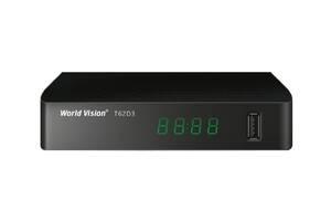 Цифровая T2 приставка, тюнер-приемник DVB-T2 ресивер World Vision T62D3 SKL31-239431