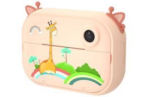 Цифровой детский фотоаппарат-принтер XOKO KVR-1500 Оранжевый Жираф
