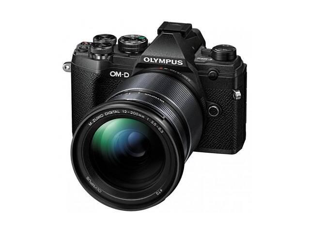 купить бу Цифровой фотоаппарат OLYMPUS E-M5 mark III 12-200 Kit black/black (V207090BE010) в Харькове