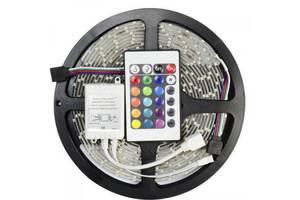 Універсальна світлодіодна стрічка SMD LED RGB 5050 + пульт управління 5 м (25599877)