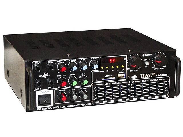 Усилитель звука UKC AV-326BT 5149 Bluetooth с караоке Черный (gr_017322)- объявление о продаже  в Киеве