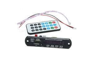 Встраиваемый MP3 плеер, Bluetooth FM USB microSD, 12В для авто