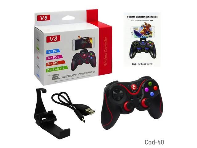 Игровой беспроводной Джойстик V8 Bluetooth для телефона Android / IOS /PC / PS3 Беспроводной Геймпад