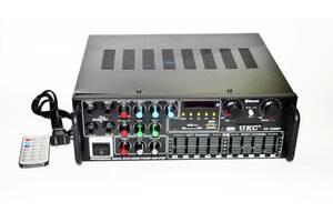 Интегральный усилитель UKC / Max AV-326Bt  + USB + Bluetoth с КАРАОКЕ и пультом ДУ