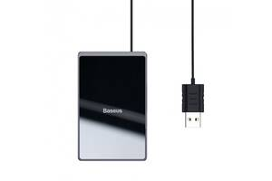 Зарядка для телефона беспроводная зарядное устройство для телефона Baseus Card Ultra-thin WX01B-01 Черная (gr_014962)
