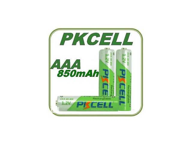 продам 850mAh ААА (минипальчик) аккумуляторы PKCELL Ni-MH (4 шт.) бу в Харькове