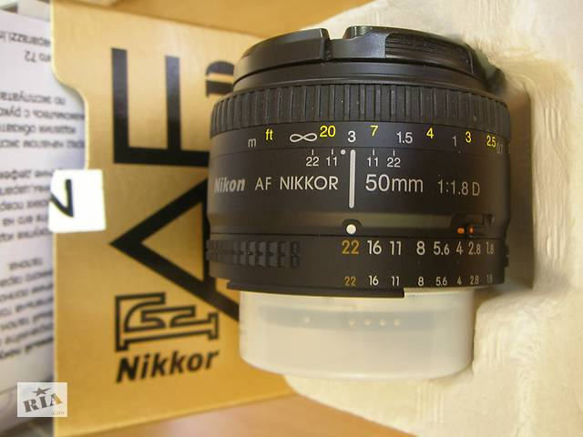Фотообъектив б/у AF Nikkor 50mm f/1.8D- объявление о продаже  в Одессе