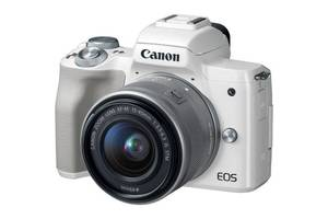 Цифровой фотоаппарат Canon EOS M50 15-45 IS STM Kit White (2681C057)