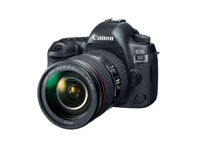 купить бу Цифровий фотоапарат Canon EOS 5D MKIV 24-105 L IS II USM Kit (1483C030) КМОП (CMOS), 36 x 24 мм, 30. в Дубно (Ровенской обл.)