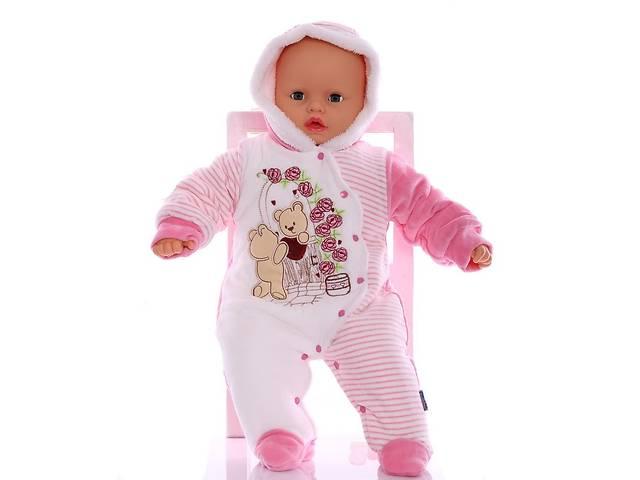 Зимний комбинезон для новорожденных Розочка розовый- объявление о продаже  в Киеве