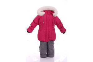 Зимний костюм для девочки Классика малиновый
