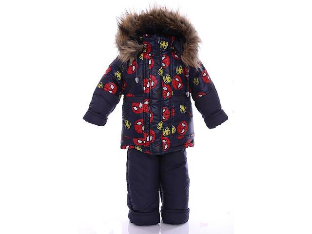 Зимний костюм для мальчика Классика с рисунком синий Spider Man- объявление о продаже  в Одессе