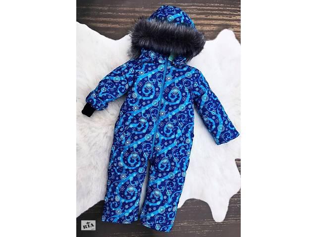 продам Зимний цельный комбинезон Снежинка голубая бу в Дубно
