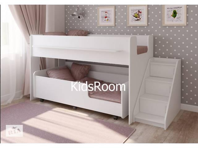 бу Двухъярусная кровать. Двоярусне ліжко. Ліжко горище. Детская мебель в Днепре (Днепропетровск)