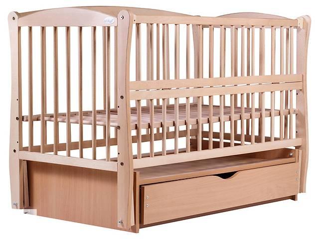 бу Кровать Babyroom Еліт маятник, ящик, откидной бок DEMYO-5 бук светлый (натуральный) в Бердянске