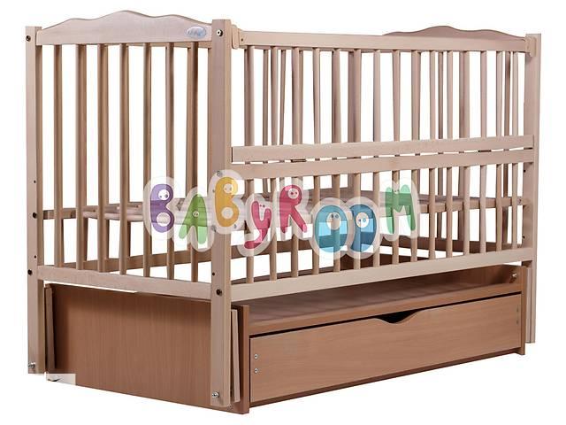 бу Кровать Babyroom Веселка маятник, ящик, откидной бок DVMYO-3  бук светлый (натуральный) в Одессе