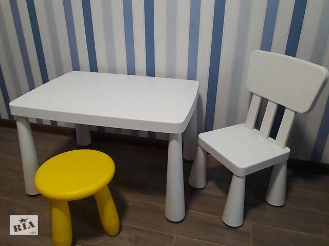 ікеа Ikea маммут стіл і стілець дитячі меблі в жовтих водах на Riacom