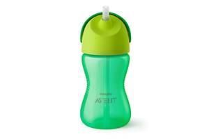 Чашка AVENT с трубочкой 300 мл. 12+ зеленый (SCF798/01)