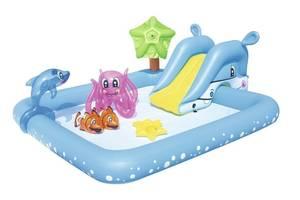 Детский надувной центр Bestway 53052 «Аквариум» с игрушками (239*206*86 см)