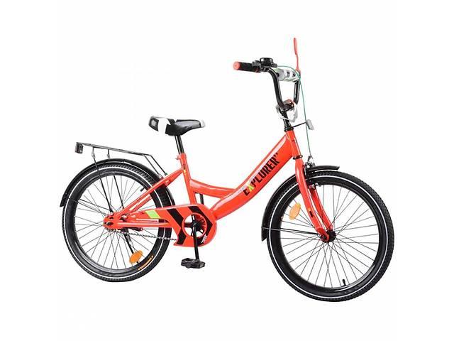 """Детский велосипед 2-х колесный Tilly EXPLORER 20"""" T-220110 crimson- объявление о продаже  в Дубно"""
