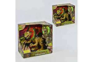 Динозавр WS 5310 (12) 45 см,  ходит, световые и звуковые эффекты, 2 цвета, в коробке