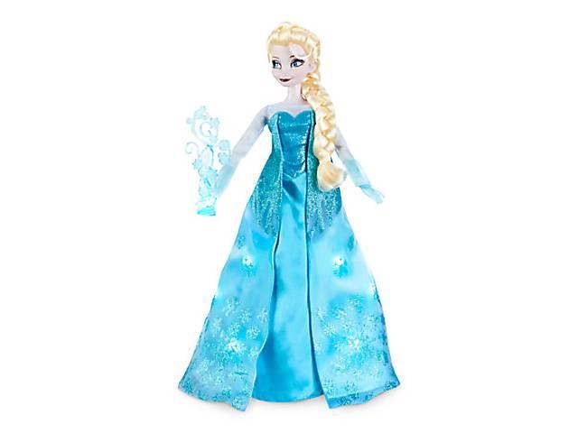 Холодное сердце кукла Эльза  сияющая и поющая.
