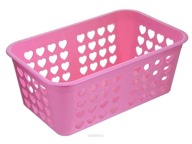 купить бу Корзинка большая Сердце разные цвета 6117 в Чернігові