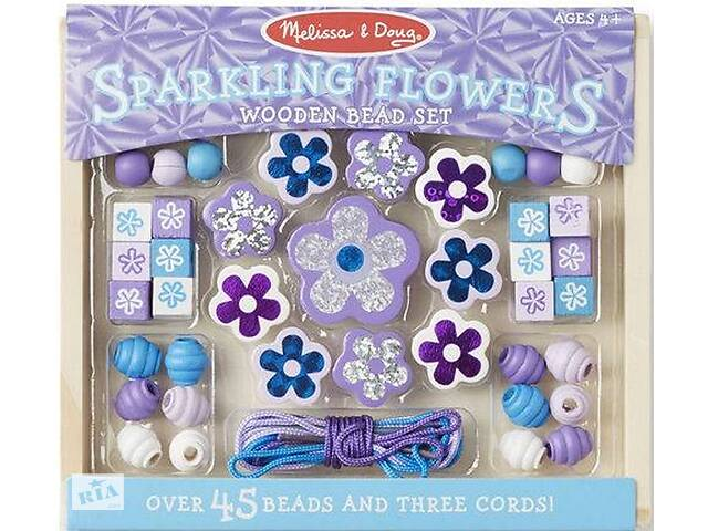продам Набор для творчества Melissa&Doug Набор бусинок Игристые цветы (MD19494) бу в Киеве