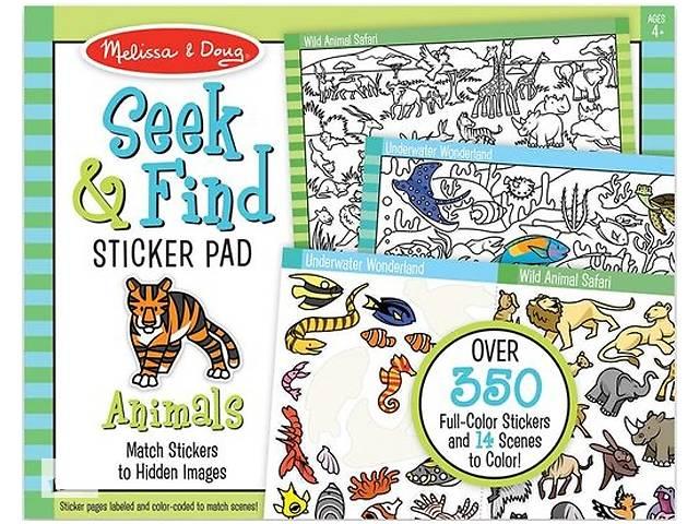 купить бу Набор для творчества Melissa&Doug Найди и наклей наклейку Животные (MD30152) в Киеве