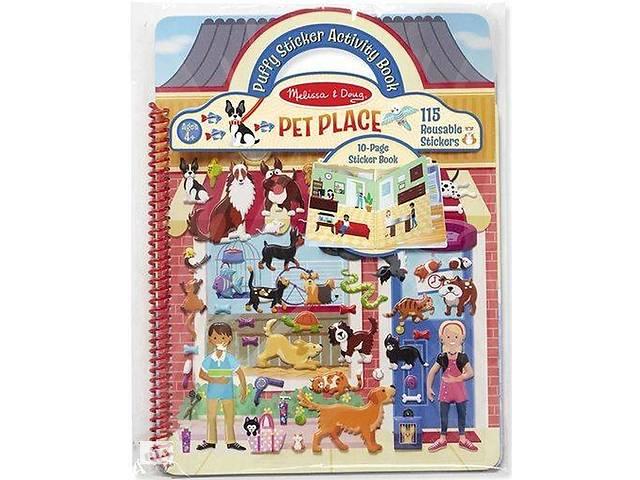 продам Набор для творчества Melissa&Doug Объемные многоразовые наклейки Дом для животных (MD19429) бу в Киеве