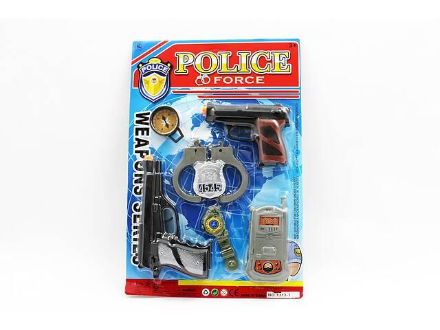 купить бу Полицейский набор - 2 пистолета, рация, наручники, часы в Дубно