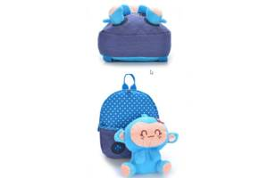 Сказочные детские рюкзаки с обезьянкой в кармане