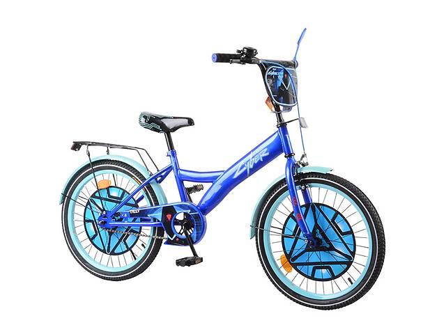 """Велосипед 2-х колёсный 20"""" Tilly Cyber T-220214 blue + l.blue- объявление о продаже  в Дубно"""