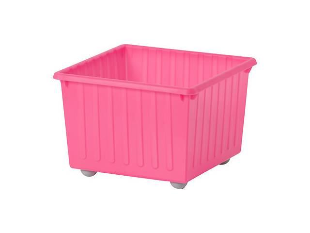 Ящик на колесах IKEA VESSLA Розовый (100.992.89)- объявление о продаже  в Харкові