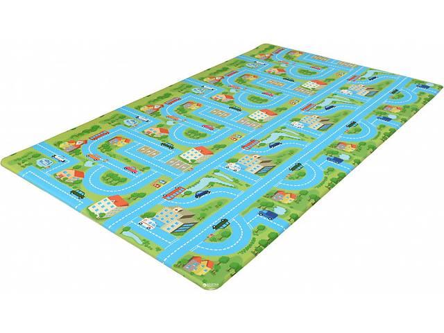 купить бу Игровой коврик двухсторонний Alzipmat CITY ROAD Разноцветный (CITY ROAD/G) в Киеве
