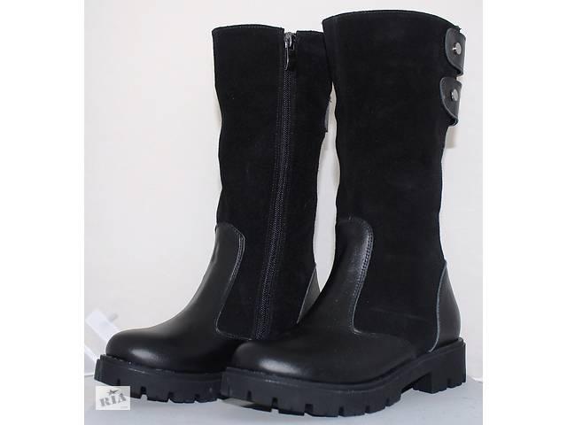 купить бу Детские сапоги высокие замшевые зимние, замшевая детская обувь зимняя от производителя модель О-О28зам в Харкові