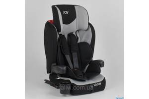 Автокресло детское Joy 38148 система ISOFIX черно-серое