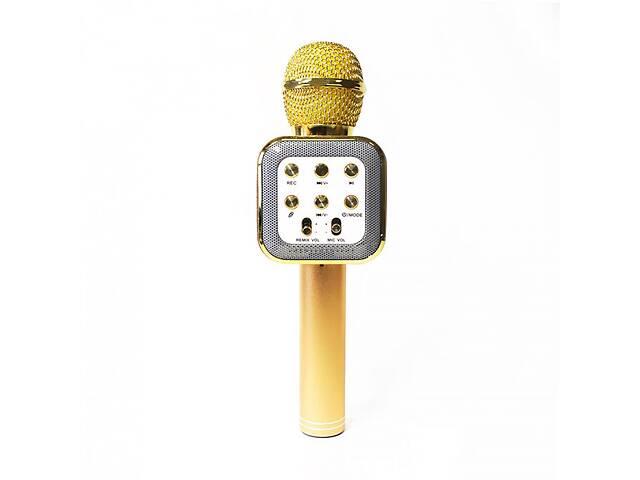 продам Беспроводной аккумуляторный Bluetooth караоке микрофон Wster WS-1818 Золотой (par_1818_2) бу в Киеве