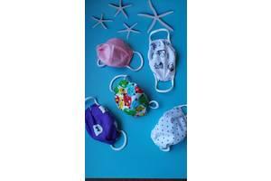 Декоративные двойные масочки многократного употребления для взрослых и детей
